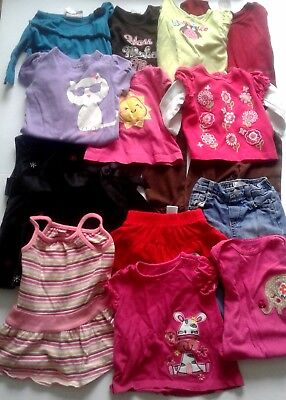 Lot of 15-piece baby girl clothing + BONUS 2 items!!!!