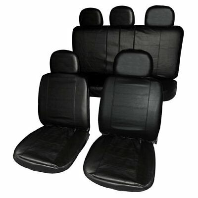 Full Set Leather Look Black Seat Covers Set For ROVER 75 SALOON 99-04