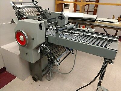 Used 8 Page Baumfolder Usa Folding Machine- Good Working Condition