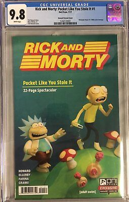 Rick & Morty: Pocket Like You Stole It #1 CGC 9.8 Nintendo Power Homage Cover!