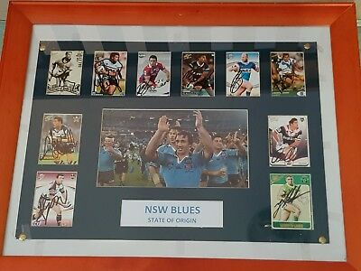 New South Wales Signed Cards In Frame A Authenticity Certificate Price Slashed!!
