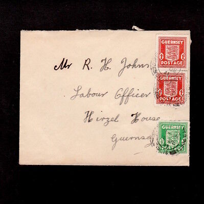 Guernsey 1941 Stamps From The German Occupation On Local Cover