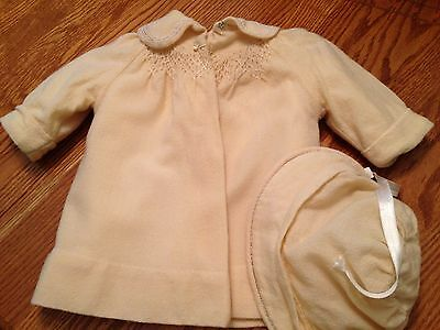 1920's BABY COAT AND BONNET - MOSTLY HAND STITCHED