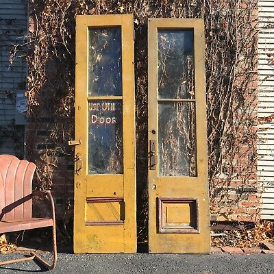 Pair Of Antique Doors, Use Other Door Sign, Architectural Salvage Wood Doors
