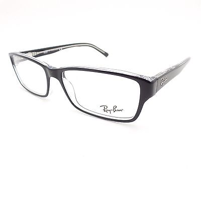 Ray Ban 5169 2034 Black Transparent 54 New Eyeglass Frame Authentic
