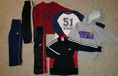 LOT Boy's Toddler 5T 5 6 Clothes Athletic Pants Jackets Hoodies Nike Adidas