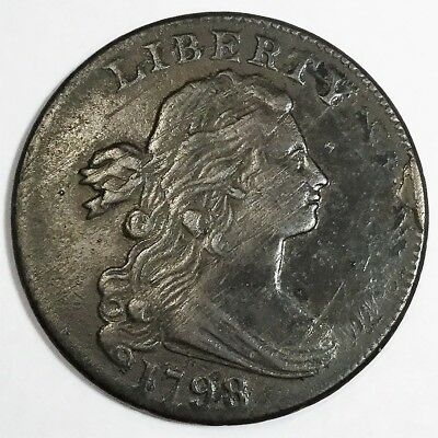 1798 Draped Bust Large Cent Beautiful High Grade Coin Rare Date