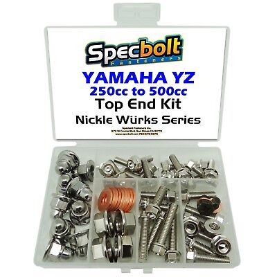 Nickel Chrome Wurks Yamaha Yz 250 400 465 490 500 Wr Top End Fasteners Kit