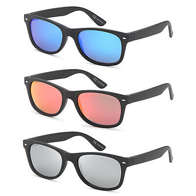Gamma Ray Polarized UV400 Classic Style Sunglasses with Mirror Lens, 3 Pack