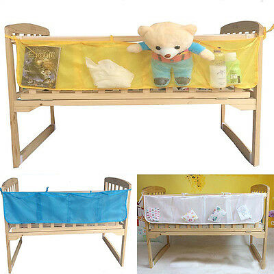 Baby Crib Bed Nursery Storage Organizer Toy Diaper Clothes Hanging Mesh Bags