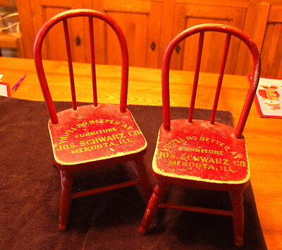 Mendota, IL Advertising Child's Chairs - Red