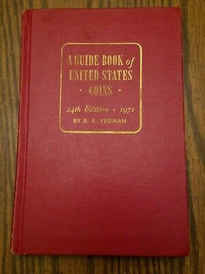 1971 Whitman Red Book A Guide Book Of United States Coins 24th Edition Hardback