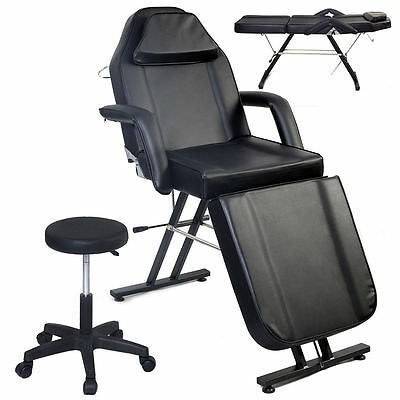 Adjustable Portable Medical Dental Chair W/Stool Combination Black