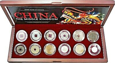 China: The Middle Kingdom. A 12-Piece Retrospective Coin Collection Boxed Set