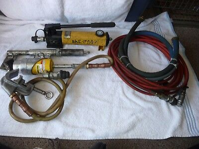 Enerpac P142 Lightweight Hydraulic Hand Pump, 10,000psi and accesories FREE SHIP