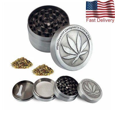 4 Piece Tobacco Herb Spice Grinder Metal Chromium Herbal Alloy Smoke Crusher