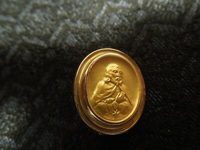 Antique Solid 10K Yellow Gold Victorian Era Man Figure Pin