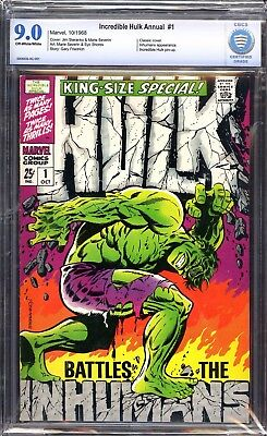 The Incredible Hulk Annual #1 CBCS 9.0 Off White/White ( Not CGC )