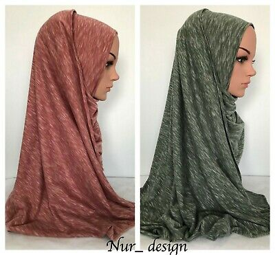Premium Quality JERSEY Stretch Plain Rectangle Scarf Hijab 12 colors 170 x 65 cm