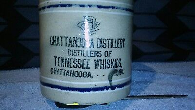 antique chattanooga distillery stoneware advertising tennessee whiskey jug