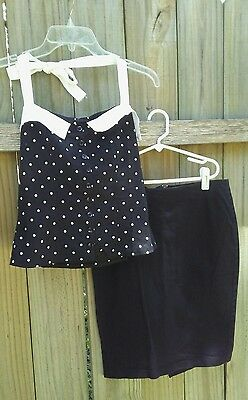 HOT TOPIC Super Low Fat Rockabilly Pinup Gothic Pencil Skirt PolkaDot Halter Lot