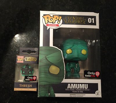 Funko POP League Of Legends 01 Amumu GameStop + Thresh Keychain