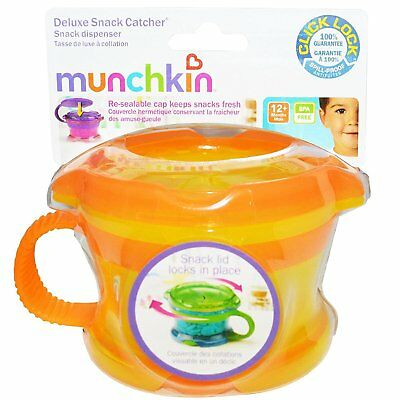 Munchkin Click Lock Deluxe Snack Catcher Orange NWOT