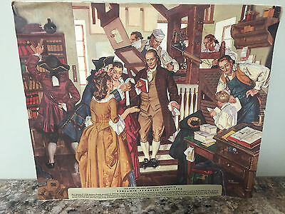 Water Color Painting Of The Birth Of Benjamin Franklin
