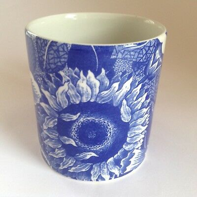 Charming Vintage SPODE Blue Room Collection SUNFLOWER Mug Made in England White