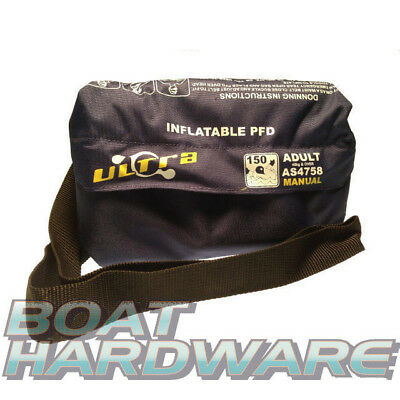 Compact Waistbelt Inflatable Lifejacket AS4758.1 PFD150 ADULT 40kg+ up to 5XL