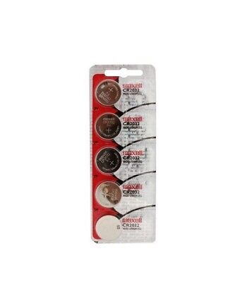 5Pcs. Maxell CR2032 2032 Lithium 3V Batteries (Made in Japan)