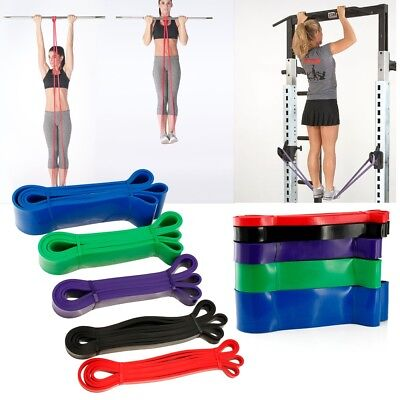 Assisted Resistance Pull Up Band Exercise Loop Crossfit Strength Weight