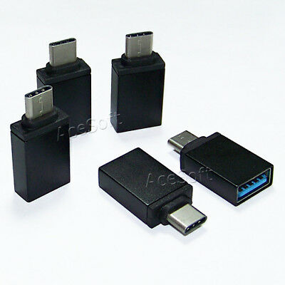 5 Pack High Speed Type C USB 3.1 Male to 3.0 Female Adapter Converter USA Seller
