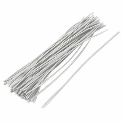 50x Reusable Package Twist Tie Candy Bag Ties 150mm Long White I7P4
