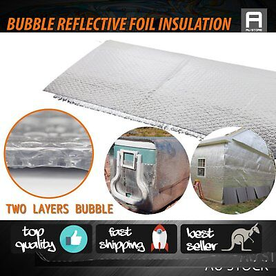 Reflective Double Bubble Pack Foil Insulation Wall Metal Buildings Heat Shield