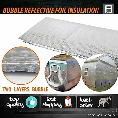 Reflective Foil Insulation Double Bubble Pack Wall Metal Buildings Heat Shield