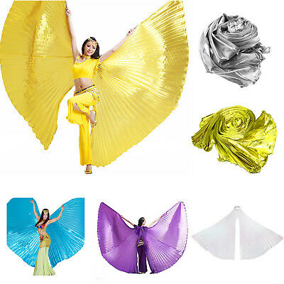 Belly Dance Isis Wings Dancer Wear Solid Colors Egyptian Fancy Cosplay Costume