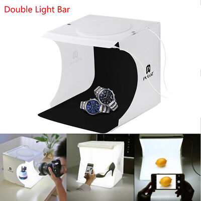 LED Light Room Double Photo Studio Photography Lighting Tent Backdrop Cube Box