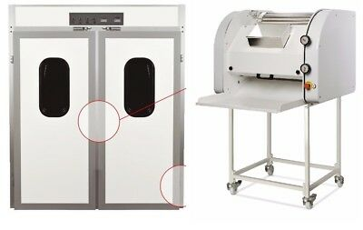 "Italian alluminium 2 doors  Bread Prover for 6 racks 18""x30""  + Baguette moulder"