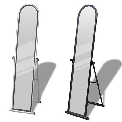 Free Standing Floor Mirror Cheval Dressing Rectangular Full Length Black/Gray✓