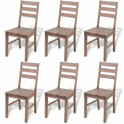 VidaXL Set Of 2/4/6 Solid Acacia Wood Dining Chairs Kitchen Dining Room