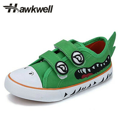 Hawkwell Fashion Strap Kids Canvas Shoes Boys Girl Sneaker Cartoon Hook and Loop