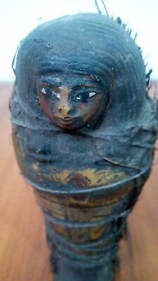 Ushabti Ancient Egyptian antiques Faience Collectibles Beautiful Amulet