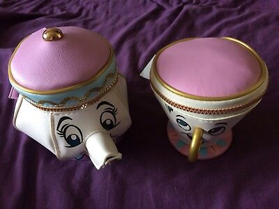 """New """"Beauty & The Beast"""" Mrs Potts And Chip Purse Set Collectable Xmas?"""