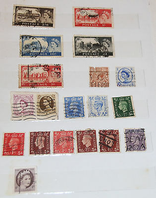 19 Great Britain Postage Stamps Used