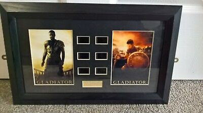 GLADIATOR MAXIMUS ORIGINAL FILM CELL + PHOTO RUSSELL CROWE limited edition36/100