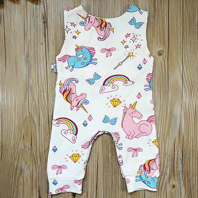 Newborn Toddler Baby Boys Girls Romper Jumpsuit Unicorn Bodysuit Clothes Outfits
