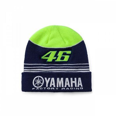 Yamaha Factory Racing Valentino Rossi VR46 Beanie Hat Blue/Yellow Adult One Size