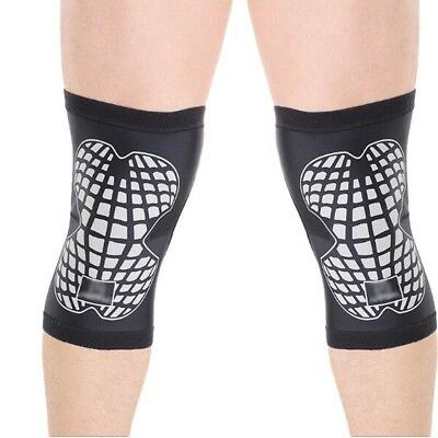 (Medium, Grey) - Auto Unisex Knee Brace & Support Athletics Sports Compression