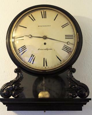 "antique fusee drop dial 12"" convex dial SHERWOOD FAVERSHAM"